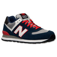 New Balance ML574CPM: 574 NAVY/Grey/Red Classics Retro-Style Shoe Adult Men Size