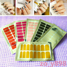 16Pcs/Sheet Full Nail Art Foils Wraps Patch Transfers Tips Decal Stickers #15