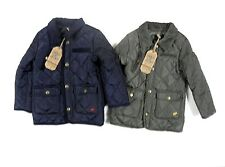 Soul & Glory Boys Quilted Jacket Coat School Pockets Navy Khaki 3 - 8 Years