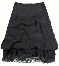 New Ladies Maxi Skirt With Lace Anthracite Gray Variable Length Lining Size 50