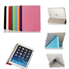 Ultra Slim Transformers Leather Stand Smart Cover Case For iPAD Sleep/Wake up