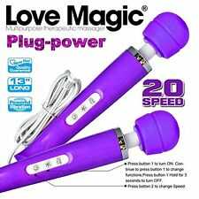20 Speed Wand Style Magic Massager, Plugged and RECHARGEABLE.