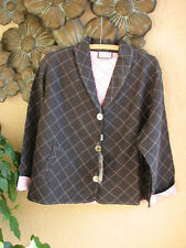 Cottage Clothing QUILTED LINEN/SILK Shawl Collar SWING Jacket - M, L, XL - NEW
