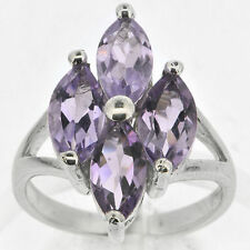 925 Silver 4.6 Ct Natural Amethyst Ring