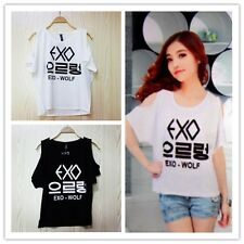 EXO Logo Fans Must Have White/ Black Girl's Strapless T-SHIRT New