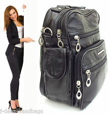 UNISEX 6 Compartment Bag MESSENGER SATCHEL SHOULDER ORGANISER  Women's Mens BAG