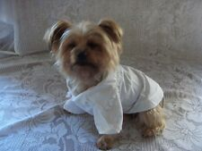 Dog Clothes White Lacy Blouse Sizes XXS - XS - Small Rock'N'Pooches Dog Apparel