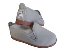 GREY FLOSSY STYLE CANVAS PUMPS PLIMSOLLS MADE IN SPAIN UNISEX
