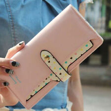 Fashion Women's Soft Leather Bowknot Clutch Wallet Long PU Card Purse Handbag