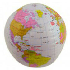 Inflatable 40cm World Globe Map Geography Large Ball Blow Up Educational Fun