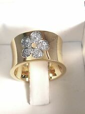 WOMENS BRILLIANT ROUND CUT cz  RING  yellow   GOLD 18kt overlaid