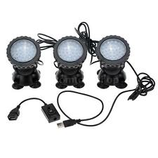 NEW 36LED Submersible 3-Light Spot Light Aquarium Pond Pool Lamp Underwater