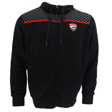 Ducati Corse Team Racing chequered Moto GP Hoodie Black Official 2015