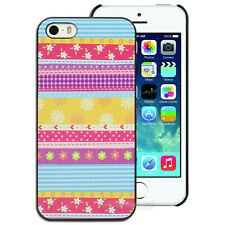 NEW Striped Floral Flower Hard Back Case for Apple iPhone 4S 4 5S 5 Cover