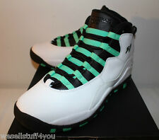 Air Jordan Retro 10 X Verde White Teal Sneakers Boy's GS Size 2.5 3 7 New