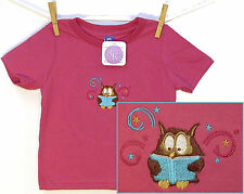 Owl & Book Shirt Baby or Toddler Stars & Swirls Library Reading Short Sleeve NWT