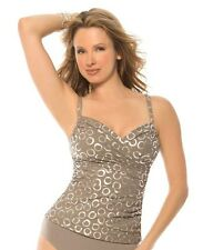 NWT - MAGICSUIT by MIRACLESUIT, Edie Tankini, 2-Pc, Taupe Full Circle, MSRP $150