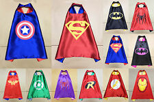 Children Super Hero Cape Kid Fancy Dress Costume Outfit New