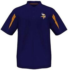 Minnesota Vikings Moist Management Synthetic Mens Polo Shirt Big & Tall Sizes