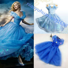 Hot Sandy Girl Princess Cinderella Cosplay Costume Kids Party Fancy Dress  Blue