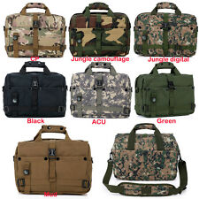 Outdoor Military Combat Army Tactical Laptop Bag Single Shoulder Pack w/ Compass