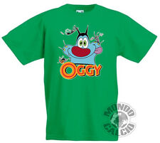 SHIRT OGGY AND THE COCKROACHES T-SHIRT GREEN JERSEY KID CHILD