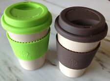 Ecosoulife Husk coffee tea travel cup, eco friendly reusable large mug 400 ml