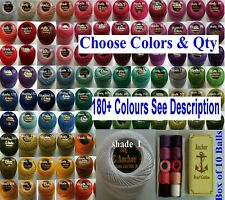 20 ANCHOR Pearl Cotton Crochet Embroidery Thread Balls £15.99 Choose from 200 +