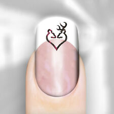 Pink Camo Browning Nail Art Decal Love Deer Transfer x20 Adult Kid Peel n Apply