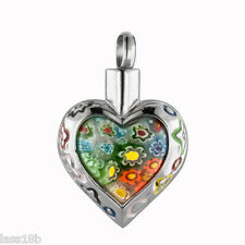 Heart Urn Cremation Pendant Necklace Keepsake Jewelry Ash Holder +Funnel