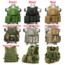 USMC Airsoft Tactical Military Molle Combat Vest Tactical Assault Plate Carrier