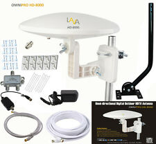 LAVA OmniPro HD-8000 Omni-Directional HDTV TV Antenna HD Cable Install Kit Jpole