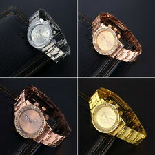 Geneva Bling Crystal Women Girl Unisex Stainless Steel Quartz Wrist Watch EC