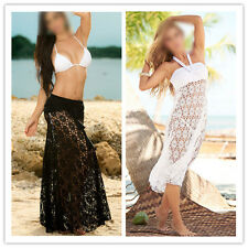 Lace Crochet Convertible Beach Dress Bikini Swimwear Cover Up Sexy Wrap Smock AL