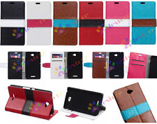 Manual Mosaic High wallet Card Holder Leather Case Cover for Samsung Sony Nokia