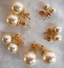 STUD MAJORCA/MALLORCA PEARL EARRINGS 6MM TO 14MM OFF-WHITE FAUX MAJORICA