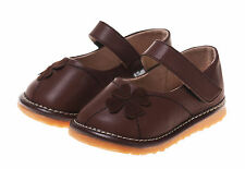 LITTLE BLUE LAMB Squeaky Shoes Shoe Ballet Shoes Leather brown new