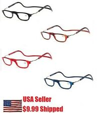 Unisex Magnetic Reading Glasses Front Connect Adjustable Reader Click +1.5 to 4