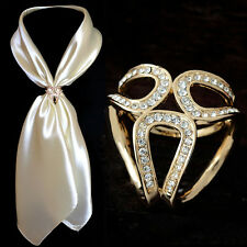 Luxury  Gold/Silver Trio Scarf Ring Scarf Buckle Scarf Clip Slide Buckle Jewelry