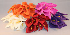 Calla Lilies Bunch of 10 Colourfast Foam,Wedding/Home Decor,Multiple Quantities