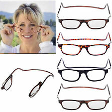 Front Connect Magnetic Reading Glasses Fold Anti-fatigue Hanging Frame Reader