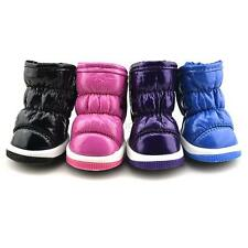 Hot Pet Puppy Dog Ruffled Soft PU Leather Shoes Winter Warm Booties Boots Shoes