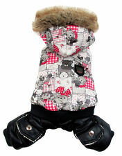 Little Bear Printing Puff Pet Dogs Winter Coat Free Shipping Dogs Clothing