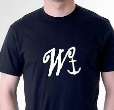 funny t-shirt wanker with anchor rude sarcastic slogan tee mens womens