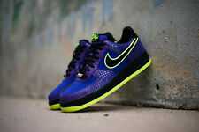 Nike Air Force 1 One 488298 503 Court Purple Volt Lakers Croc Skin Mens Shoes