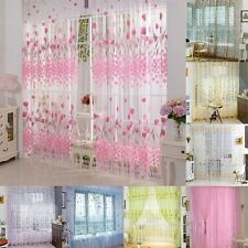 Room Voile Window Curtain Door Sheer Tulle Panel Drapes Scarfs Multi Styles S44
