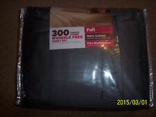 FULL SHEET SET 100% COTTON GREY 300 THREAD COUNT WRINKLE FREE 4 PC