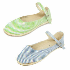 SALE £5.99 GIRLS STRIPEY ANKLE STRAP SHOES BY SPOT ON F2183