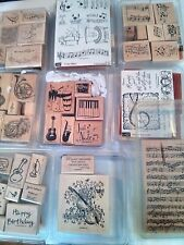 Stampin Up!,retired & used sets, MUSIC,MUSICAL,JAZZ,PIANO, NOTES,choose one
