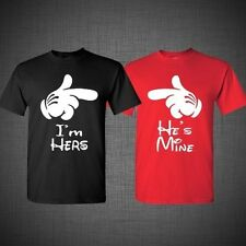 He's Mine I'm Hers Mickey Mouse disney Mickey Hands Couple T Shirt Tank Top tee
